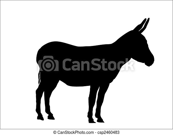 This Is A Silhouette From A Donkey Vector