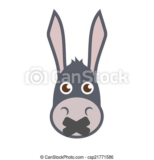 Donkey Head With Mouth Sealed.  - csp21771586