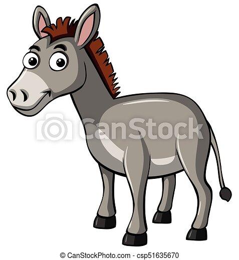 Donkey with happy face - csp51635670
