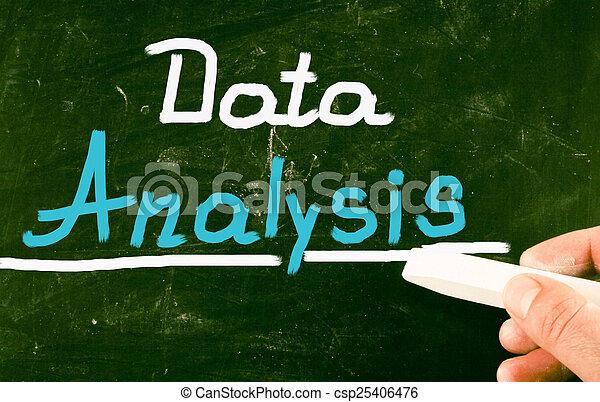 données, analyse - csp25406476