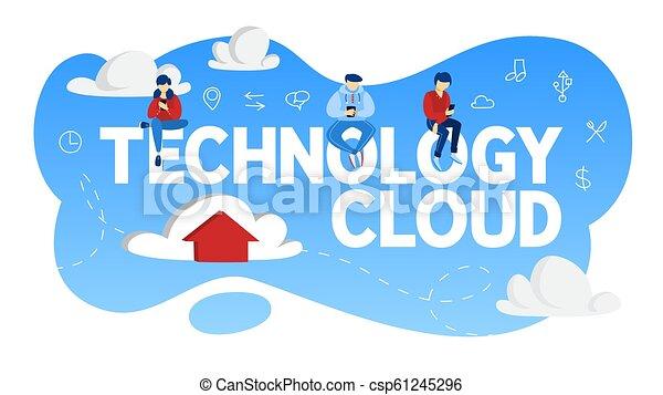 données, concept., stockage, technologie internet, nuage - csp61245296