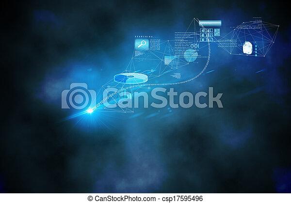 données, graphiques, fond - csp17595496