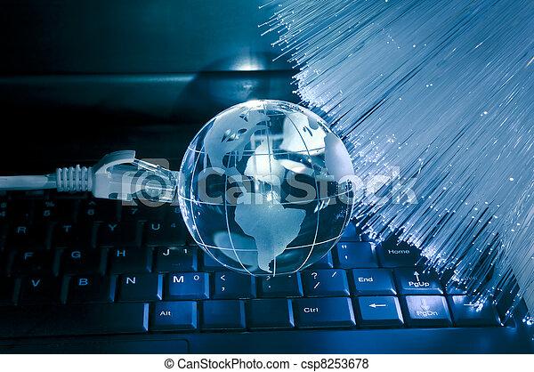 données, informatique, la terre, concept - csp8253678