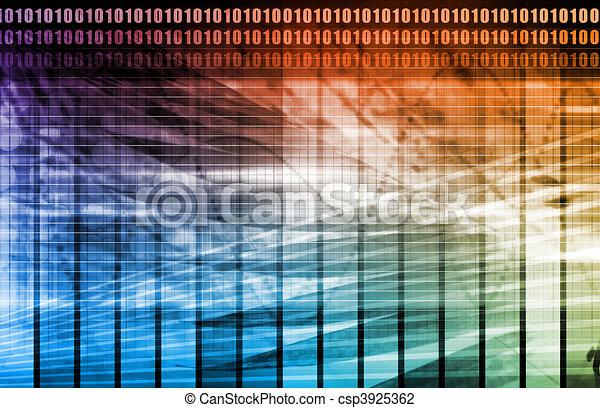 données, réseau, internet - csp3925362