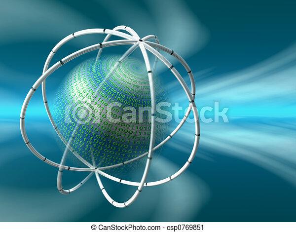 données, vitual, serveurs, réalité - csp0769851