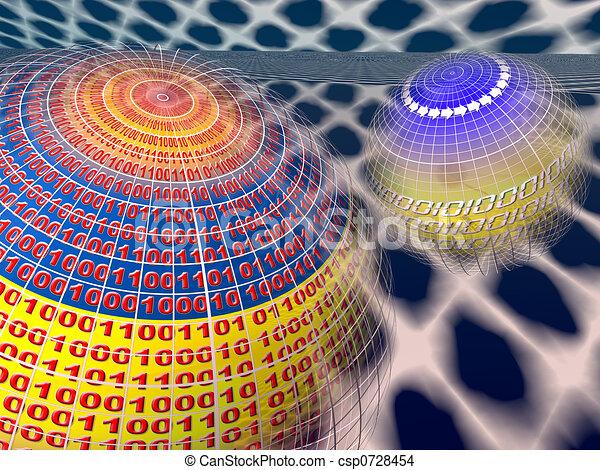 données, vitual, serveurs, réalité - csp0728454