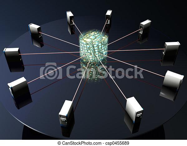 données, vitual, serveurs, réalité - csp0455689