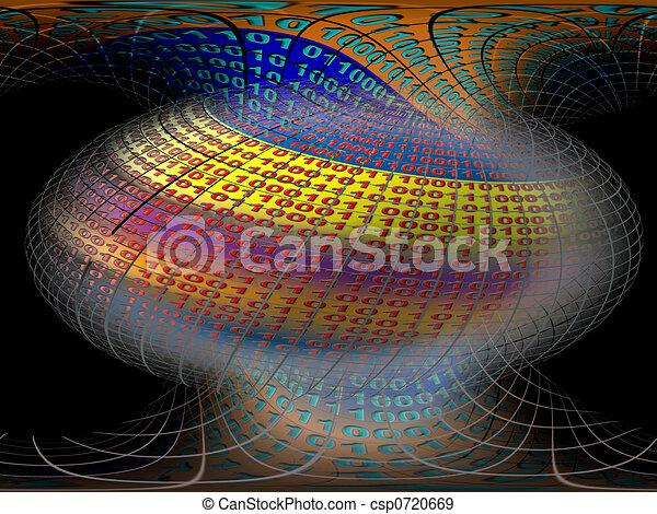 données, vitual, serveurs, réalité - csp0720669