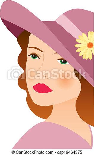 donna, 2, cappello - csp19464375