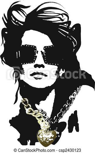 donna, arte, pop - csp2430123