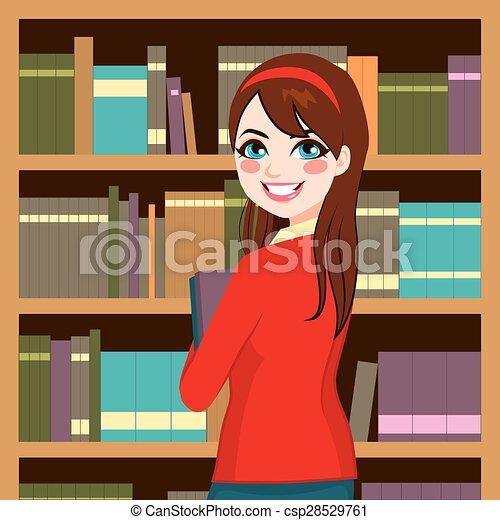 donna, biblioteca - csp28529761