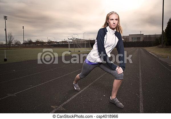 donna, esercizio - csp4018966