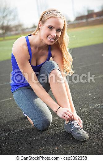 donna, esercizio - csp3392358