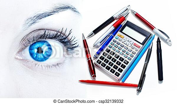donna, eye. - csp32139332