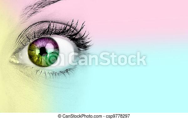 donna, eye. - csp9778297