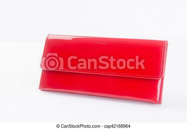 donna, fondo., colour), borsellino, portafoglio, (red, o - csp42168964