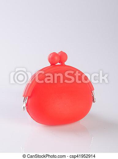 donna, fondo., colour), borsellino, portafoglio, (red, o - csp41952914