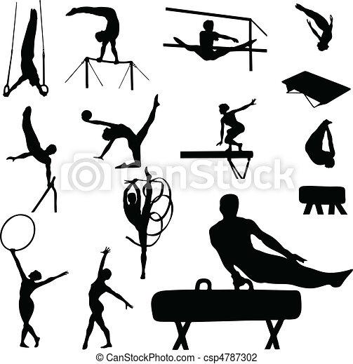 donna, ginnastica, uomo - csp4787302
