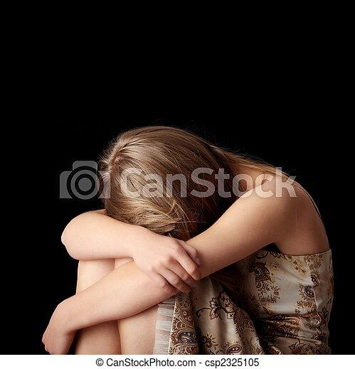 donna, giovane, depressione - csp2325105