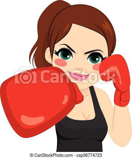 Ben noto Donna, guanti, pugilato. Donna, pugilato, combattimento  RU17