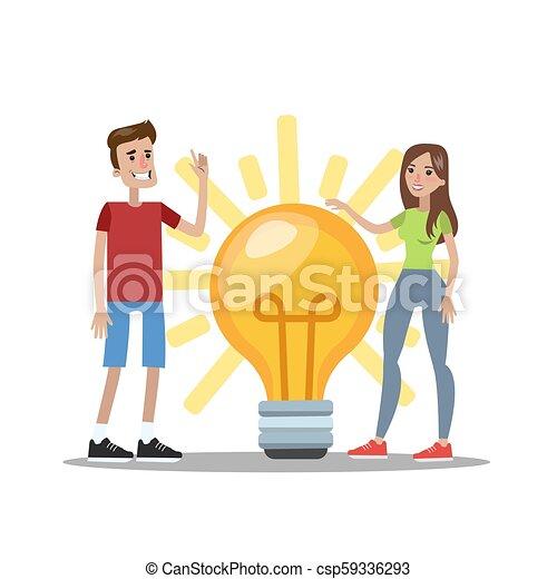 donna, idea, possedere, uomo - csp59336293