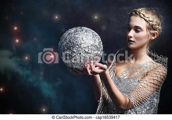 donna, magia, argenti pallottola - csp16539417