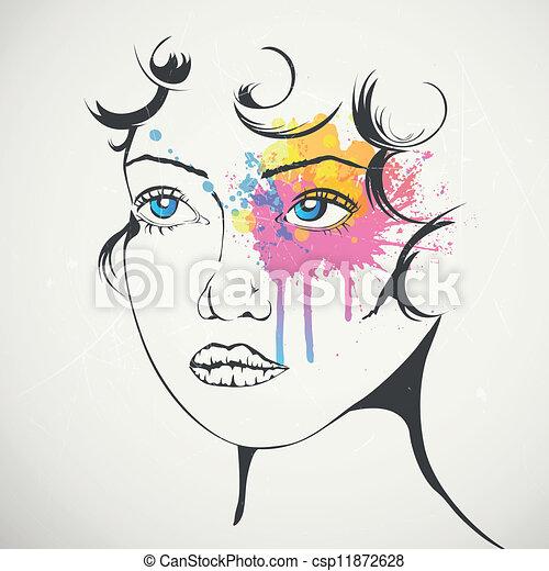 donna, moda - csp11872628