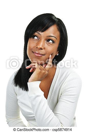 donna pensante, giovane - csp5874914
