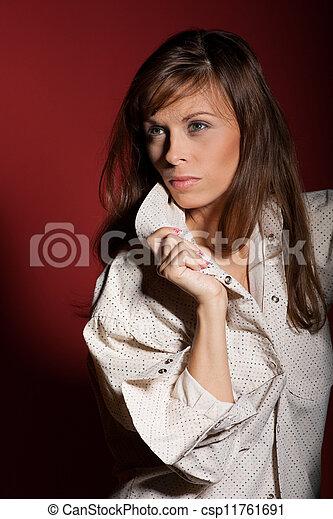 donna, proposta, sofisticato - csp11761691
