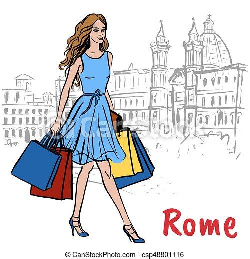 a79e565eeae6 Bello, borse, schizzo, moda, shopping, donna, roma.