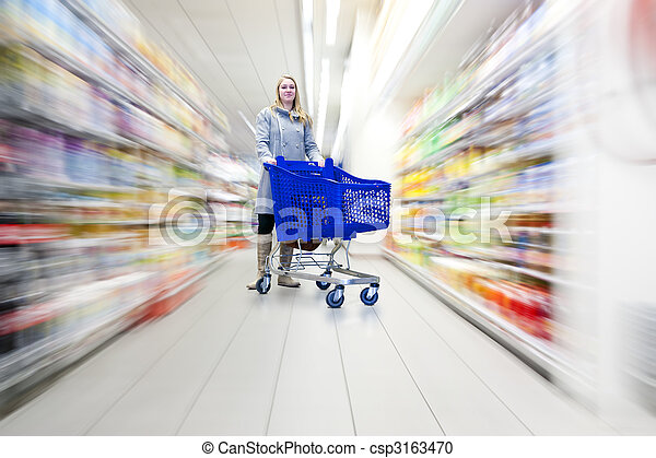 donna, supermercato - csp3163470
