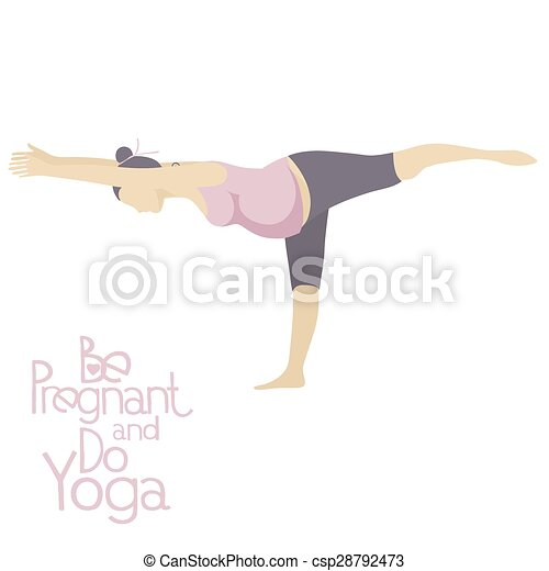 donna, yoga, incinta - csp28792473