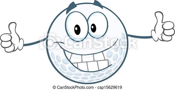 donner, balle, golf, haut, pouces - csp15629619