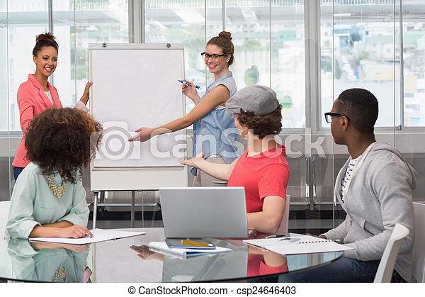 donner, mode, présentation, étudiant - csp24646403