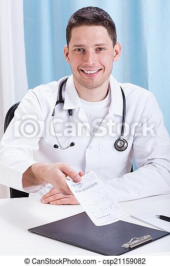 donner, recette, patient, docteur - csp21159082