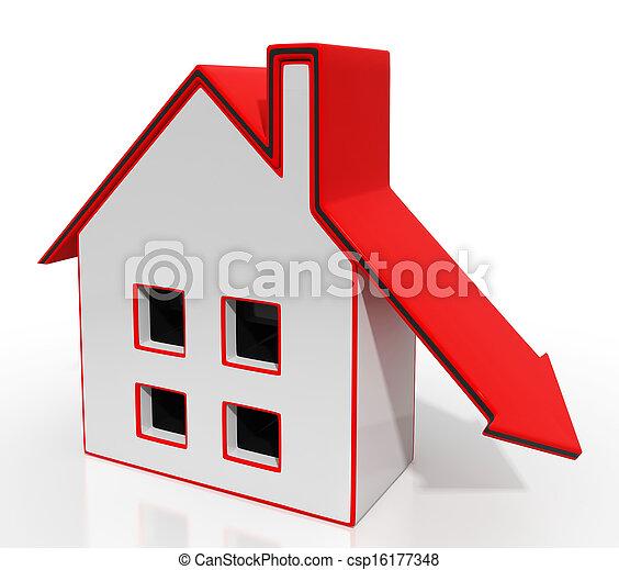 dons, woning, recessie, richtingwijzer, eigendom, optredens - csp16177348