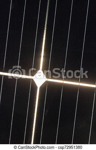 dont, photovoltaïque, chrétien, reflet, gros plan, lumière soleil, croix, cellule, formes, lumineux, réception - csp72951380
