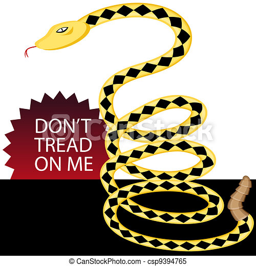 don t tread on me snake an image of a yellow rattlesnake clipart rh canstockphoto com diamondback rattlesnake clipart rattlesnake head clipart