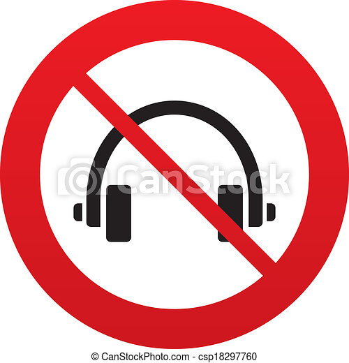 don t use headphones sign icon earphones button red clip art rh canstockphoto com icon clipart microsoft icon clipart person