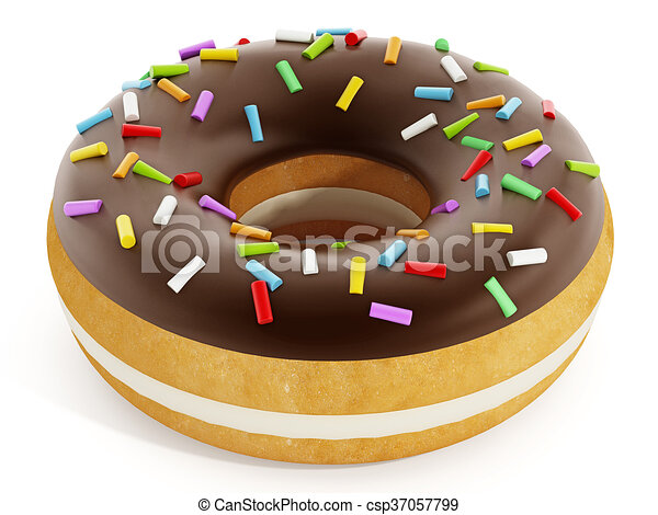 Donut 3d Illustration