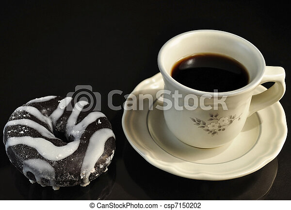 donut and coffee - csp7150202