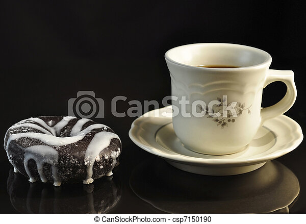 donut and coffee - csp7150190