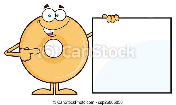 donut, ausstellung, unbelegtes zeichen - csp26885856