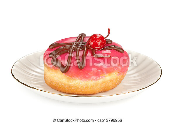 donut isolated on a white background - csp13796956