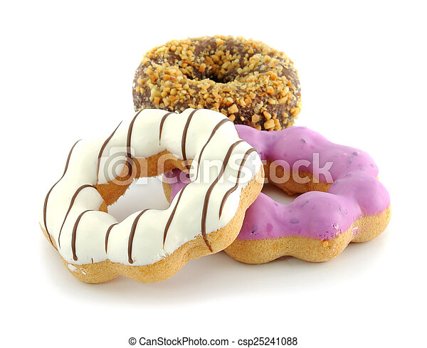 donut isolated on white background - csp25241088
