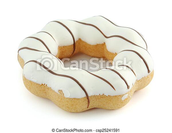 donut isolated on white background - csp25241591