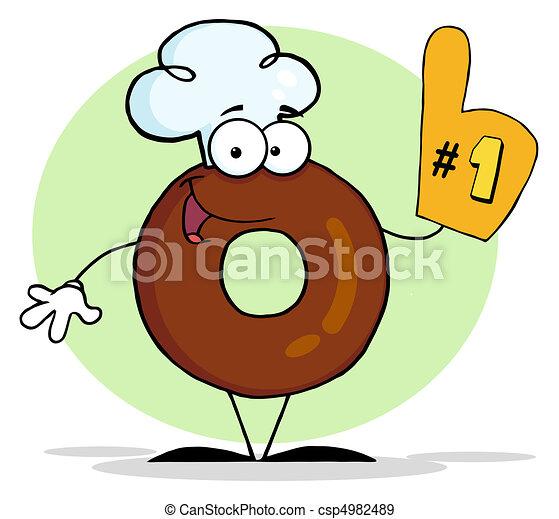 donut, numero, fondo, uno - csp4982489