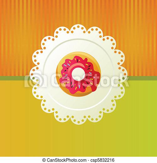 Donut on a white napkin. - csp5832216
