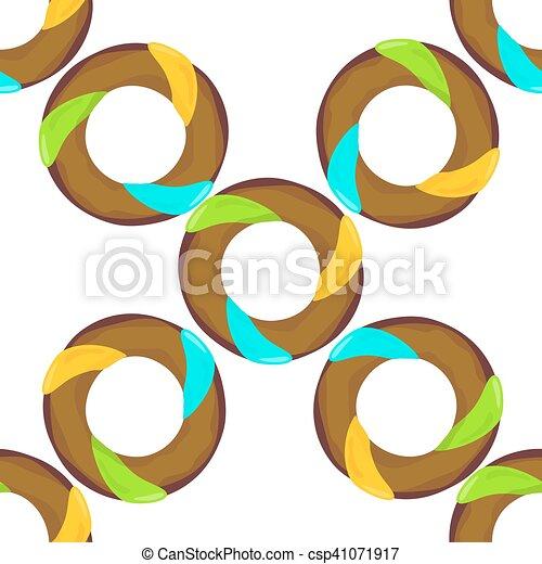 Donut Seamless Background Texture Pattern - csp41071917