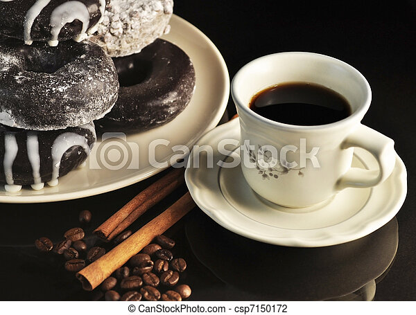 donuts and coffee - csp7150172